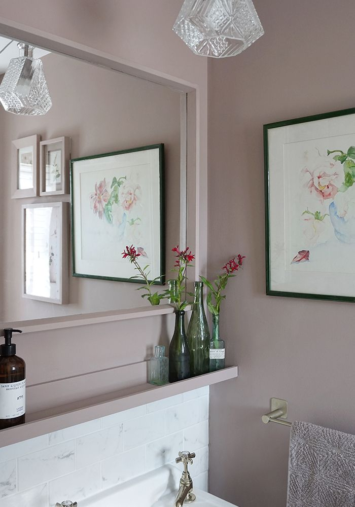 Farrow and Ball sulking room pink bathroom