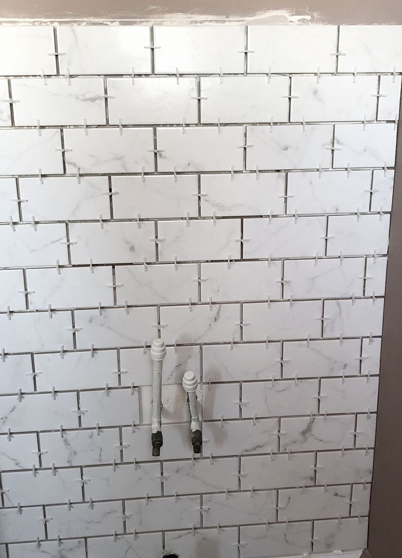 Cloakroom marble tile