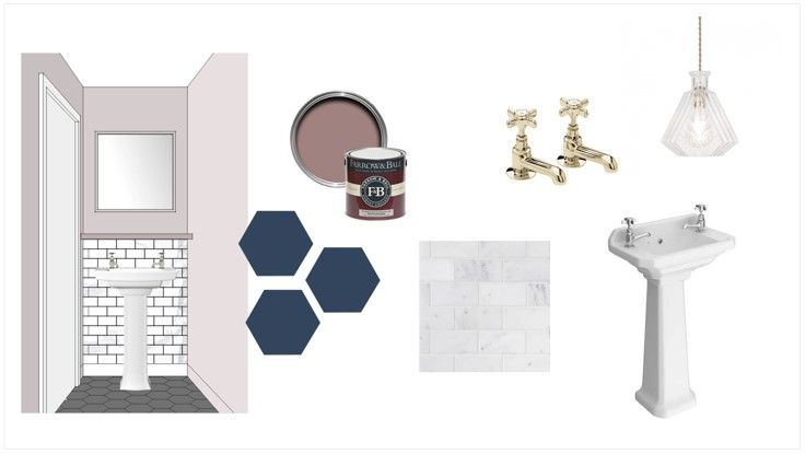 Cloakroom design concept board